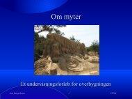 Om myter - Nordit