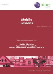 Mobile Lessons - Juniper Research