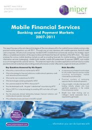 Mobile Financial Services - Juniper Research