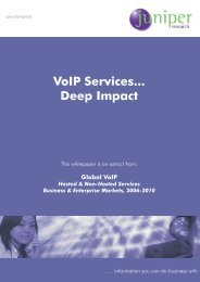 VoIP Services... Deep Impact - Juniper Research
