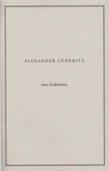 alexander lüderitz - Verein zur Förderung der Rechtswissenschaft ...