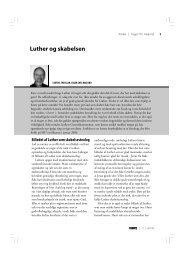 Luther og skabelsen - Menighedsfakultetet