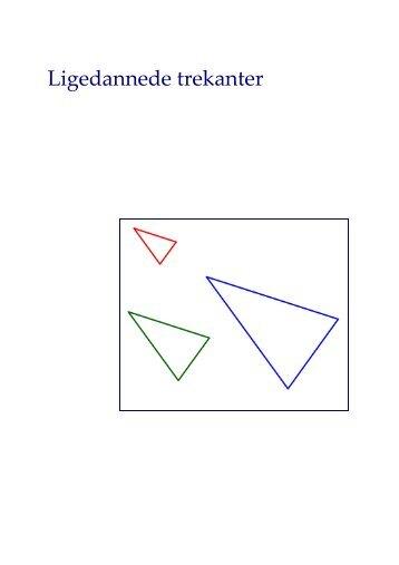 Ligedannede trekanter - Matematik