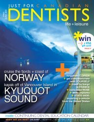 norway Kyuquot Sound - Just For Canadian Dentists Magazine