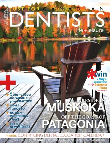 Sept Oct 2010 - Just For Canadian Dentists Magazine