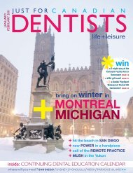 Jan Feb 2011 - Just For Canadian Dentists Magazine