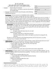 EE 371 LAB 3 F05 HEXADECIMAL DATA and SUBROUTINES Did ...