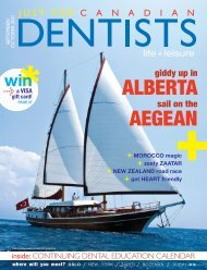 September October 2011 - Just For Canadian Dentists Magazine