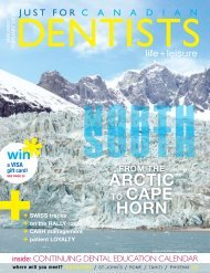 January/February 2012 - Just For Canadian Dentists Magazine