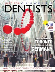 Mar Apr 2011 - Just For Canadian Dentists Magazine