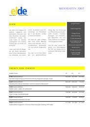 Mediadaten 2007 - Elde Online