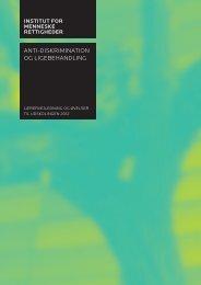 undervisningen i anti-diskrimination og ligebehandling - Kunsten