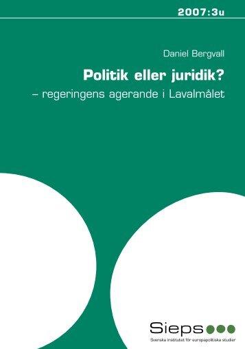 Politik eller juridik? - Sieps