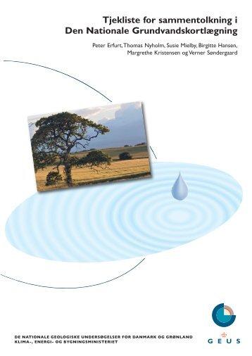 Tjekliste for sammentolkning i Den Nationale Grundvandskortlægning