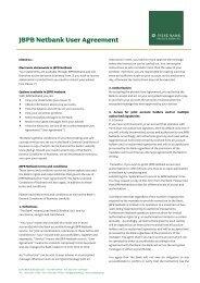 JBPB Netbank User Agreement - Jyske Bank