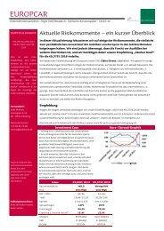 Europcar: aktuelle Risikomomente – ein kurzer Überblick - Jyske Bank