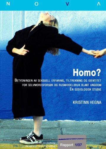 Betydningen av seksuell erfaring, tiltrekning og identitet for ...