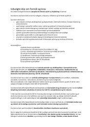 Udvalgte klip om formål og krav - VUF Historie hold 643