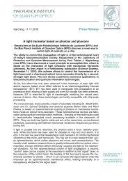 MPQ press release - Laboratory of Photonics and Quantum ...