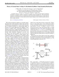 Theory of Ground State Cooling of a Mechanical Oscillator ... - K-LAB