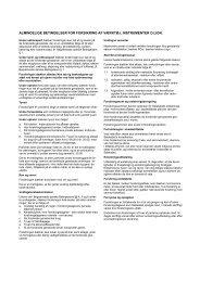 almindelige betingelser for forsikring af værktøj, instrumenter o.lign.