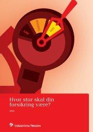 Folder: Hvor stor skal din forsikring være? - Industriens Pension
