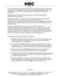 Side 1 af 2 Producenten Eternit (Schweiz) AG kan, uden ... - Moland
