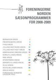 FORENINGERNE NORDEN SæSONPROGRAMMER FOR 2008-2009