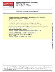 Science 300, 1520 - Laboratory of Photonics and Quantum ...