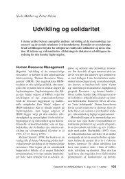 Udvikling og solidaritet - Nyt om Arbejdsliv
