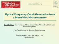 Optical Frequency Comb Generation from a Monolithic ... - K-LAB