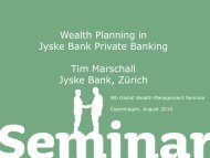 Tim Marschall, Wealth Planning with Jyske Bank Private Banking