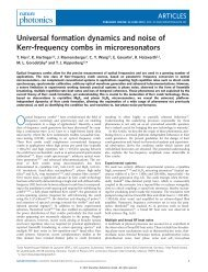 Universal formation dynamics and noise of Kerr ... - K-LAB - EPFL