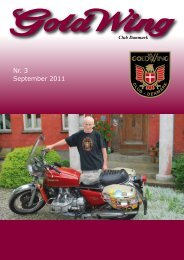 Nr. 3 September 2011 - GoldWing Club Danmark