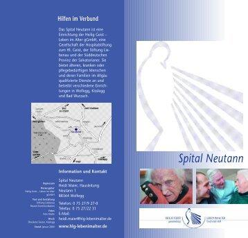 Spital Neutann - Die Altenhilfe der Stiftung Liebenau in Deutschland