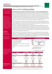 Ineos mit Trading Update - Jyske Bank