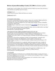 Referat af generalforsamling i Granly 25/2 2006 ... - Familieforeningen