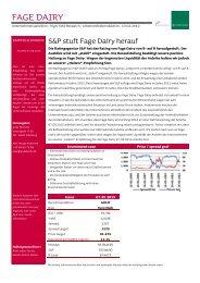 S&P stuft Fage Dairy herauf - Jyske Bank