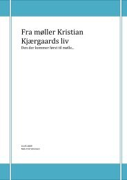 Fra møller Kristian Kjærgaards liv