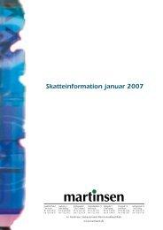 Skatteinformation januar 2007 - Martinsen Statsautoriseret ...