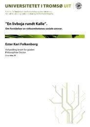 Virksomhetenes sosiale ansvar i Statistisk Sentralbyrå - Munin