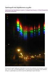 Spektrografi med digitalkamera og gitter - Carl Hemmingsens Software