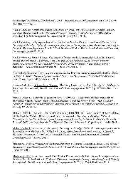 Forskningsberetning 2011 - Nationalmuseet