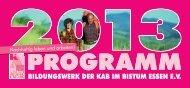 Bildungsprogramm 2013 #3.indd - Bildungswerk der KAB Essen
