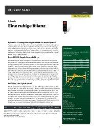 Nykredit: eine ruhige Bilanz - Jyske Bank