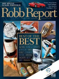 Robb Report's Best of the Best 2005 - Kaleidescape