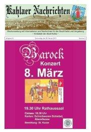 Kahlaer Nachrichten - Ausgabe Nr. 5 - 28. Februar 2013