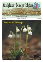 Kahlaer Nachrichten - Ausgabe Nr. 5 - 15. März 2012