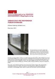Undgå dug ved indvendige forsatsvinduer - Center for ...
