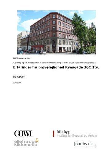 Erfaringer fra prøvelejlighed på Ryesgade 30C 1tv. - EnergiPlus